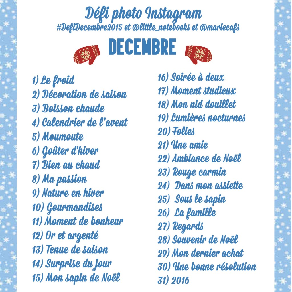 defi photo instagram décembre
