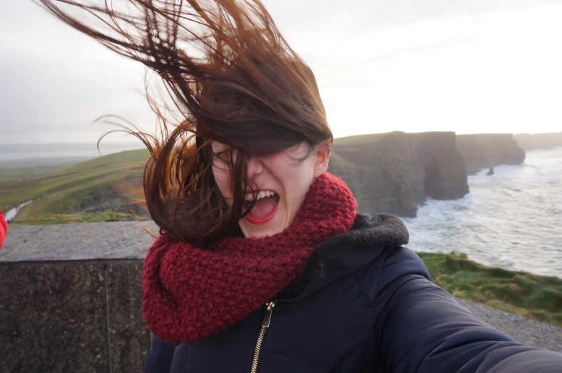 cliffs of moher ireland selfie