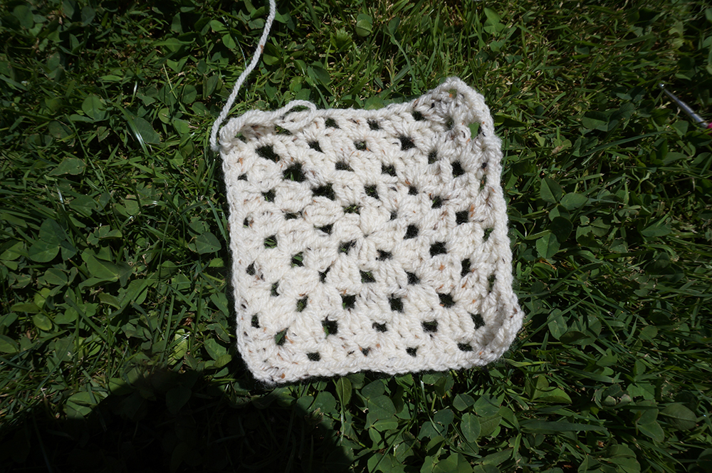 top crochet granny square